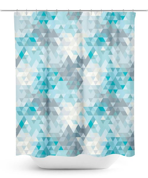 Triangular Grid Style Shower Curtain
