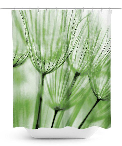 Dandelion Macro Duotone Photo Shower Curtain