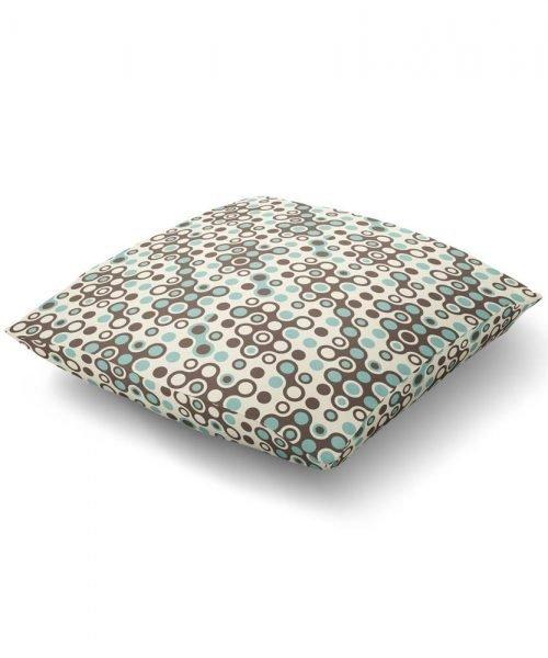 midcentury pattern floor pillow