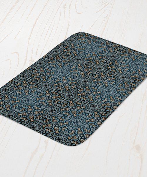 Moroccan Styled Pattern Bath Mat