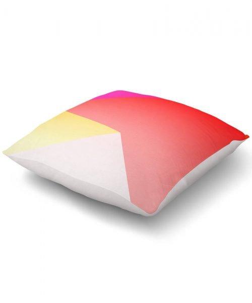 Red Yellow Gradient Geometric Print Floor Pillow