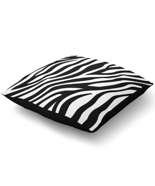 zebra print floor pillow